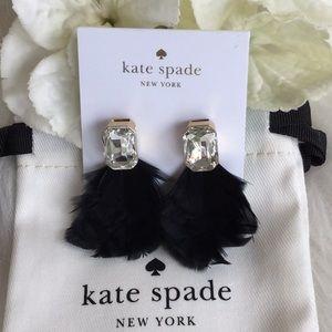 🆕Kate Spade In Full Feather Earrings